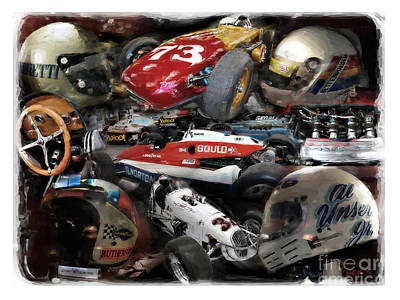 Indy Car Photograph - Vintage Indy by Tom Griffithe