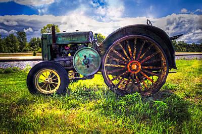 Old Country Roads Photograph - Vintage John Deere by Debra and Dave Vanderlaan