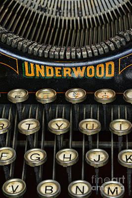 Vintage Keyboard Print by Paul Ward