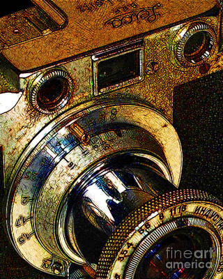 Wingsdomain Digital Art - Vintage Leica Camera - 20130117 - V2 by Wingsdomain Art and Photography