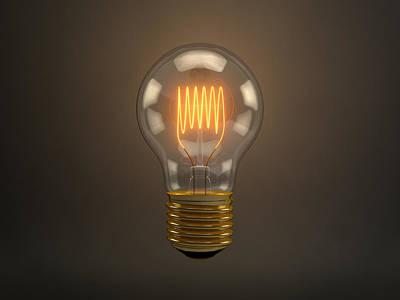 Vintage Light Bulb Print by Scott Norris