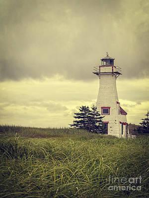 Vintage Lighthouse Pei Print by Edward Fielding