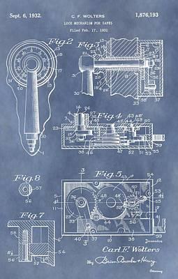 Vintage Lock Patent Print by Dan Sproul