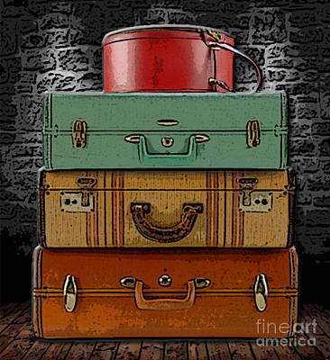 Luggage Mixed Media - Vintage Luggage by Marvin Blaine