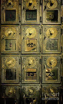 Mail Box Photograph - Vintage Mailboxes by Jill Battaglia