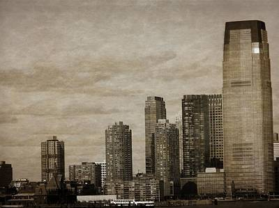 Skyscraper Mixed Media - Vintage Manhattan Skyline by Dan Sproul