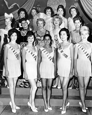 Vintage Miss Universe Contest Print by Retro Images Archive