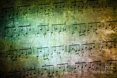 Note Photograph - Vintage Music Sheet by Carlos Caetano