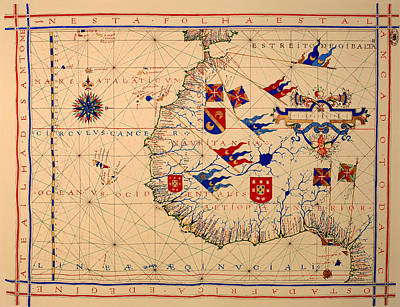 Nautical Chart Photograph - Vintage Nautical Chart - 1571 by Mountain Dreams