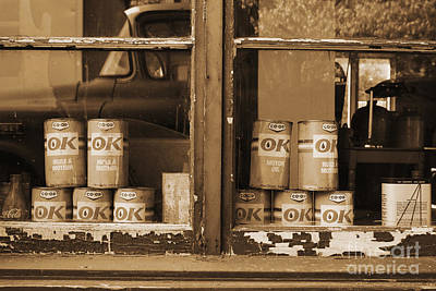 Premium Gas Photograph - Vintage Oil Can by Isabel Poulin