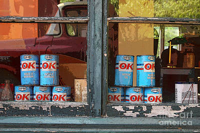 Premium Gas Photograph - Vintage Oil Can With Texture by Isabel Poulin