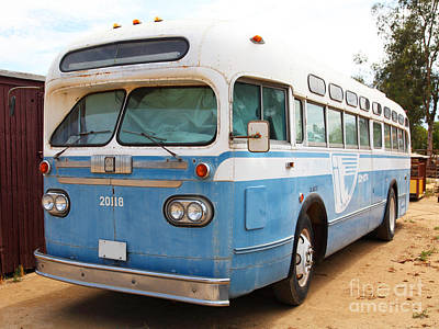 Greyhound Photograph - Vintage Passenger Bus 5d28384 by Wingsdomain Art and Photography