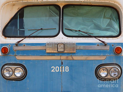 Greyhound Photograph - Vintage Passenger Bus 5d28398 by Wingsdomain Art and Photography