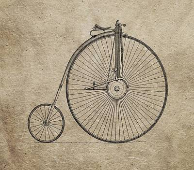 Transportation Mixed Media - Vintage Penny-farthing Bicycle Illustration by Dan Sproul
