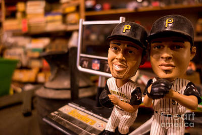 Vintage Pirates Bobbleheads Print by Amy Cicconi