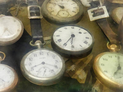 Steampunk Photograph - Vintage Pocket Watches by Susan Savad