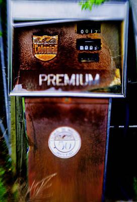 Premium Gas Photograph - Vintage Premium Gas Pump by Geoffrey Wallace