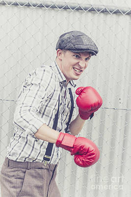 Angst Photograph - Vintage Prison Yard Boxer Settling The Score by Jorgo Photography - Wall Art Gallery