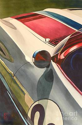 Chevy Painting - Vintage Racer by Robert Hooper