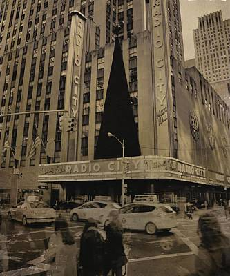 Black History Mixed Media - Vintage Radio City Music Hall by Dan Sproul