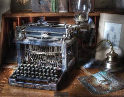 Typewriter Photograph - Vintage Remington Typewriter by David and Carol Kelly