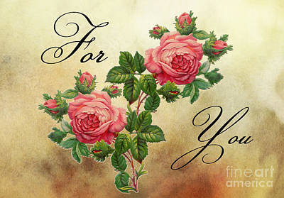 Rose Photograph - Vintage Roses For You by Nina Ficur Feenan