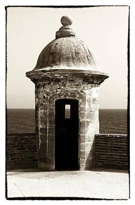 Vintage San Juan Guard Tower Print by John Rizzuto