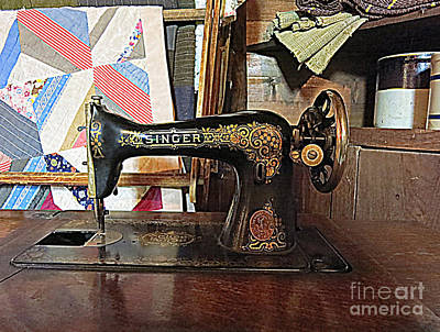 Vintage Sewing Machine Print by Patricia Januszkiewicz