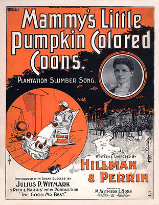 Hillman Digital Art - Vintage Sheet Music Cover Circa 1896 by M Witmmark and Sons