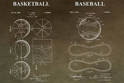 Vintage Sports Patent Print by Dan Sproul