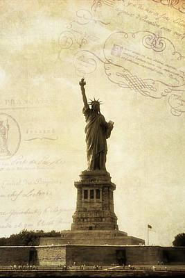 Statue Of Liberty Photograph - Vintage Statue Of Liberty 2 by Joann Vitali