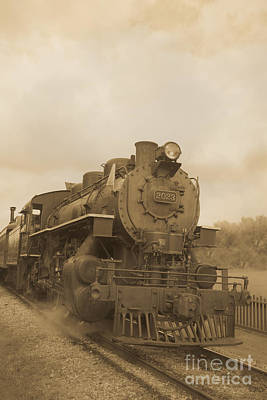 Steam Locomotive Photograph - Vintage Steam Locomotive by Edward Fielding