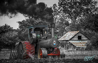 Keck Photograph - Vintage Steam Tractor V2 by F Leblanc
