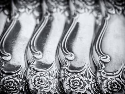 Sterling Silver Photograph - Vintage Sterling Silverware by Dobromir Dobrinov