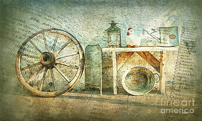 Old Washboards Digital Art - Vintage Still Life by Jutta Maria Pusl
