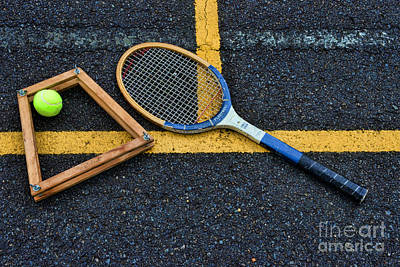 Volley Photograph - Vintage Tennis by Paul Ward
