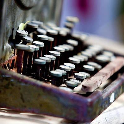 Message Art Photograph - vintage Typewriter by Art Block Collections