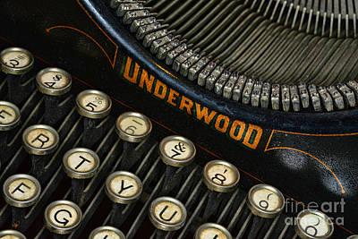 Vintage Typewriter Print by Paul Ward