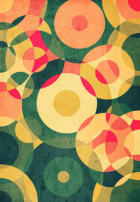 Retro Abstract Digital Art - Vintage Vacation by VessDSign