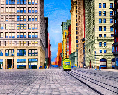 Vintage View Of New York City - Union Square Print by Mark E Tisdale