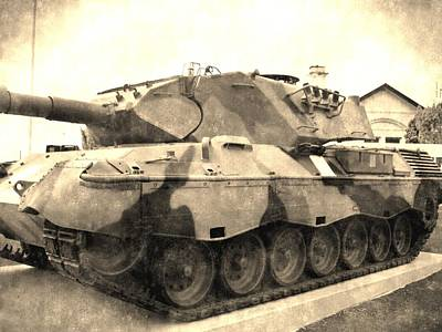 Vintage Photograph - Vintage War Tank by Andrew Hunt