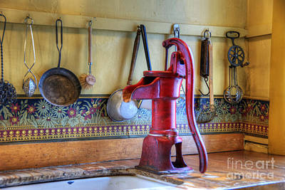 Vintage Water Pump Print by Juli Scalzi