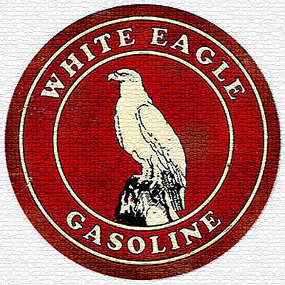 Vintage White Eagle Gasoline Metal Sign Print by Marvin Blaine