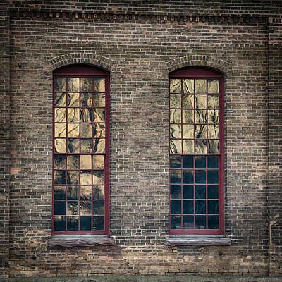 Building Factory Work Vintage Photograph - Vintage Windows by Paul Freidlund