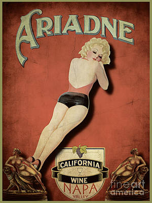Vintage Wine Ad II Print by Cinema Photography