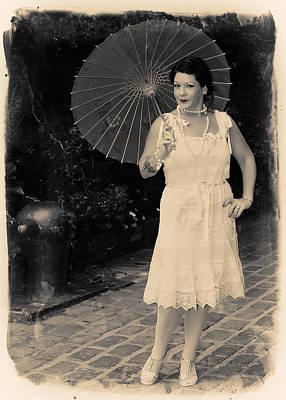 Vintage Woman Print by Jim Poulos