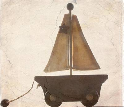 Vintage Wooden 1930s Sailboat Toy Original by Daisy Harper