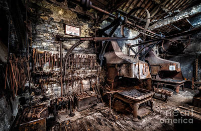 Machinery Photograph - Vintage Workshop by Adrian Evans