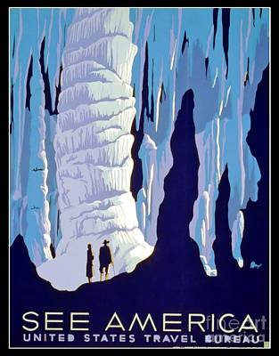 Vintage Wpa Poster See America Print by Edward Fielding