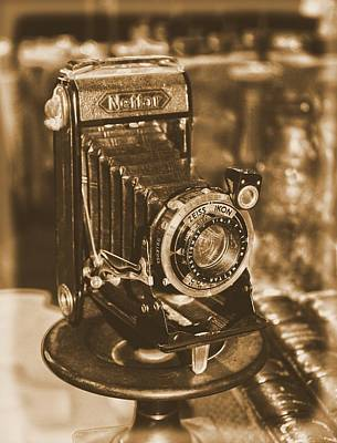 Ikon Photograph - Vintage Zeiss Ikon Camera by Guna  Andersone